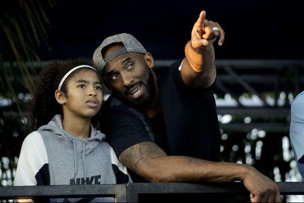 Kobe Bryant et sa fille Gianna en juillet 2018