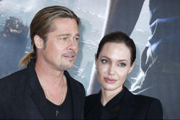 Brad Pitt et Angelina Jolie en juin 2013