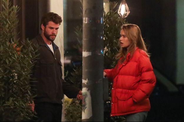 Liam Hemsworth et Gabriella Brooks à Los Angeles en février 2020