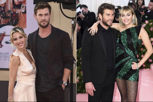 Elsa Pataky, Chris Hemsworth, Liam Hemsworth et Miley Cyrus
