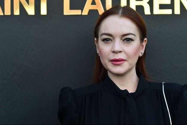 Lindsay Lohan à Paris au défilé Saint Laurent le 25 septembre 2018