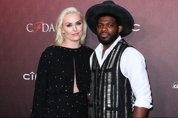 Lindsey Vonn et P.K. Subban, au Sunset Room Hollywood à Los Angeles, le 18 juillet 2019.