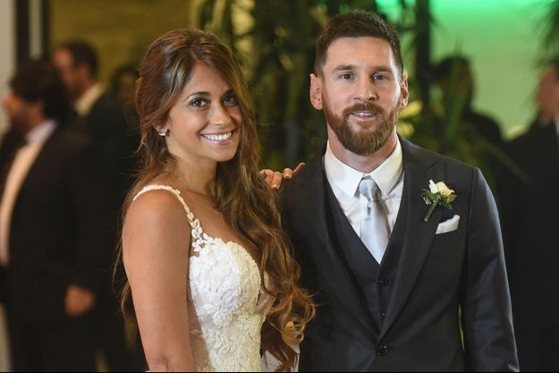Lionel Messi et Antonella Roccuzzo le 30 juin 2017 en Argentine.