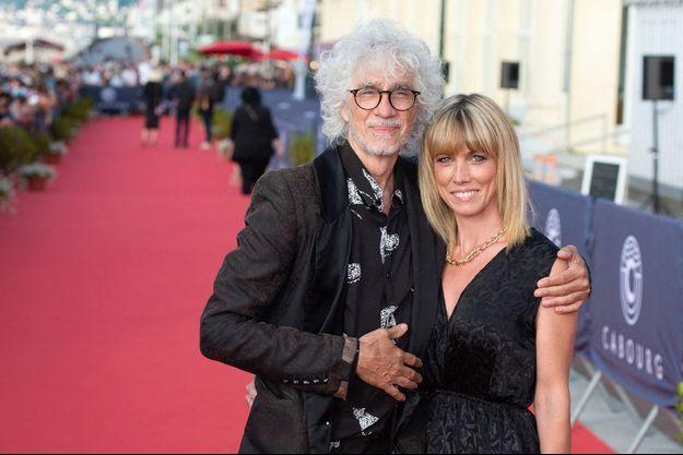 Louis Bertignac et son épouse Laetitia au Festival du film de Cabourg le 11 juin 2021