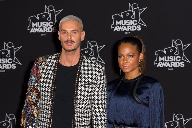 M. Pokora et Christina Milian le 4 novembre 2017 à Cannes.