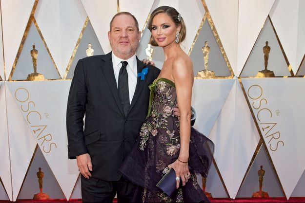 Quand elle formait un « power couple » avec Weinstein, aux Oscars 2017. Elle régnait sur tous les tapis rouges.