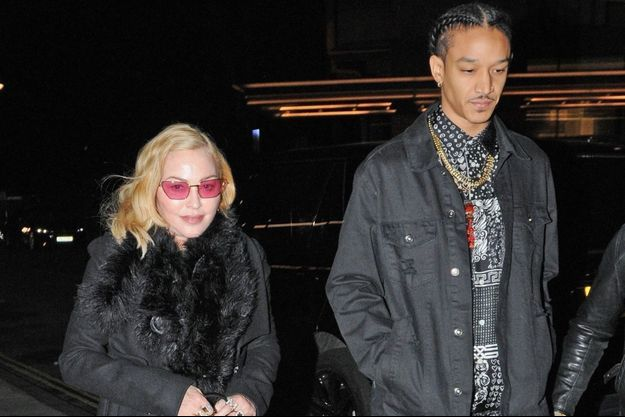 Madonna et Ahlamalik Williams à Londres le 14 février 2020.