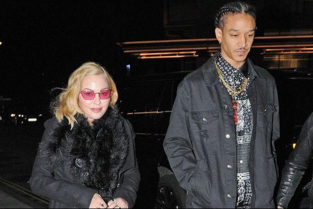Madonna et Ahlamalik Williams à Londres le 14 février 2020.