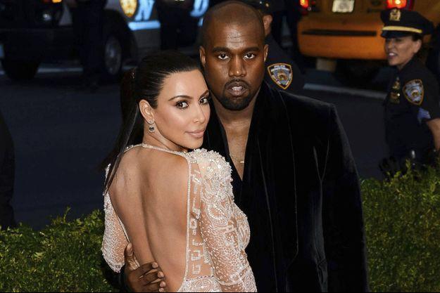 Kanye West et Kim Kardashian en 2015.