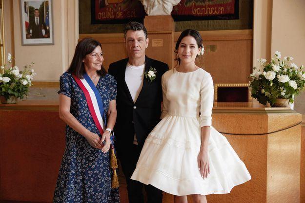 Après la cérémonie célébrée par la maire de Paris, Anne Hidalgo : « Vous êtes deux très belles personnes que j'aime et que j'admire. »