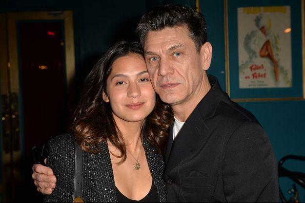 Line Papin et Marc Lavoine en février 2020