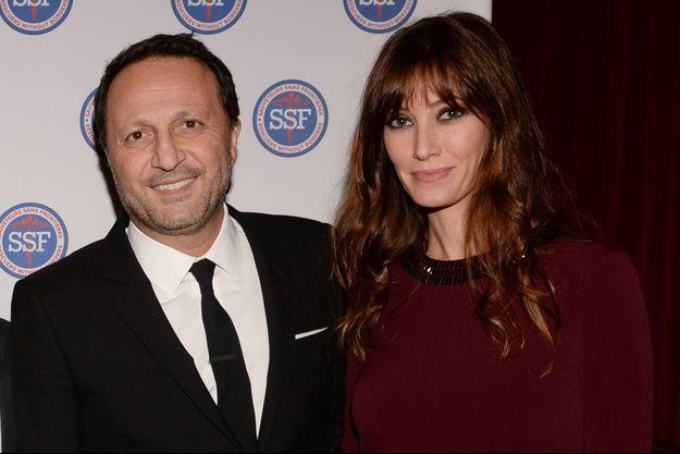Arthur et Mareva Galanter lors d'un gala caritatif en 2018