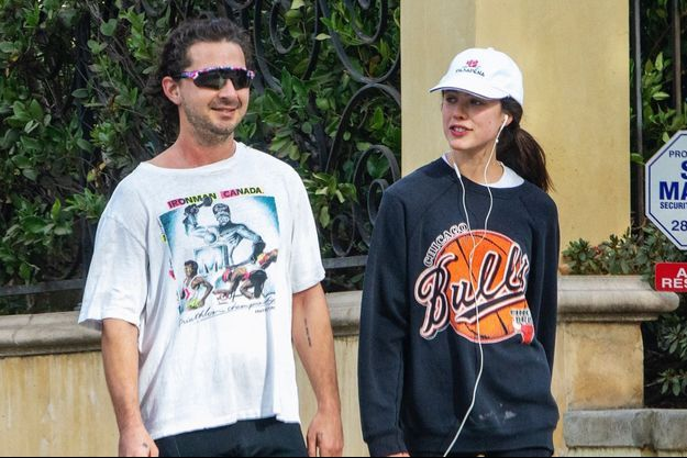Shia LaBeouf et Margaret Qualley à Los Angeles le 23 décembre 2020