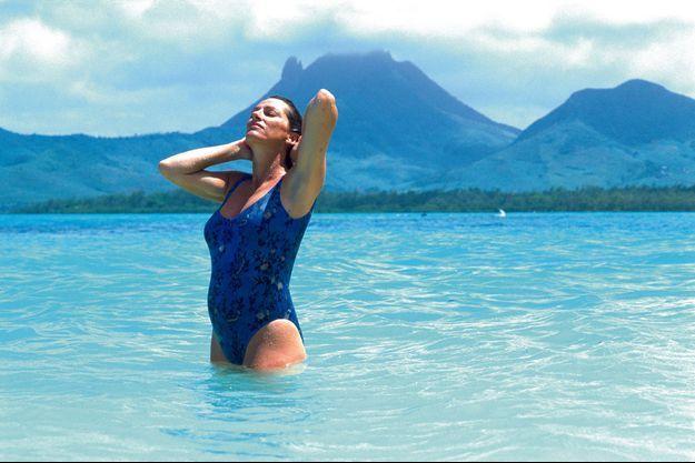 Vacances à l'île Maurice pour la navigatrice enceinte de Marie. Mars 1993.