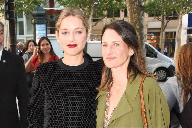 Marion Cotillard et Camille Cottin à Paris en juin 2018.