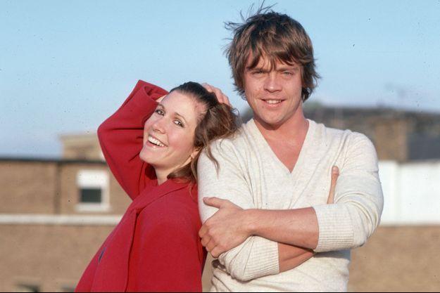 """Carrie Fisher et Mark Hamill, au temps de """"Star Wars""""."""