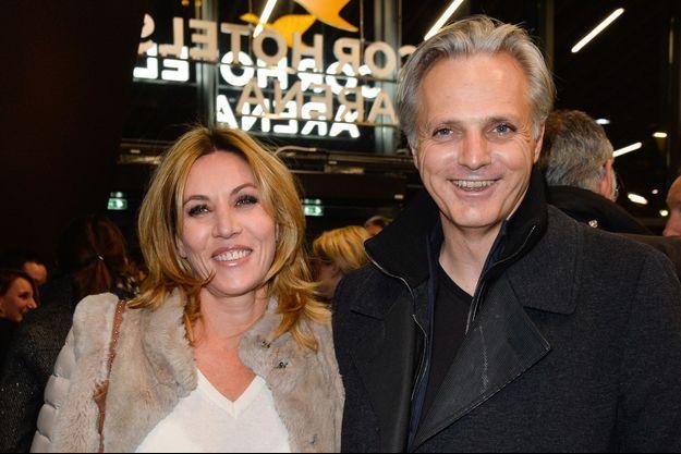 Mathilde Seigner et Mathieu Petit, le 16 décembre 2016 à Paris.