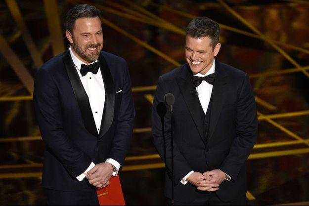 Ben Affleck et Matt Damon, aux Oscars en 2017.