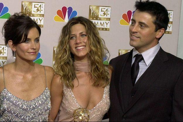 Courteney Cox, Jennifer Aniston et Matt LeBlanc en 2006 à Los Angeles