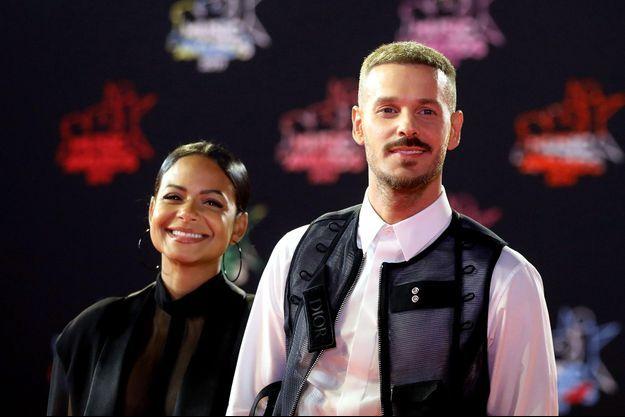 Christina Milian et Matt Pokora aux NRJ Music Awards en novembre 2019