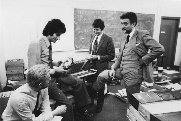 Maurice Lévy, à gauche, en 1972. Il est devenu président du directoire de Publicis Groupe.