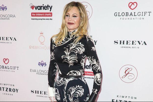 Melanie Griffith à Londres le 17 octobre 2019.