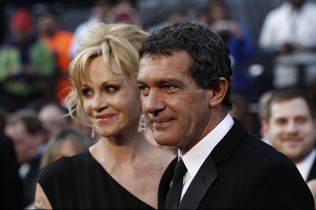 Melanie Griffith et Antonio Banderas à la cérémonie des Oscars en 2012.