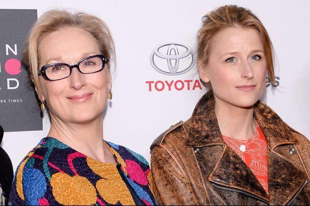 Meryl Streep et sa fille Mamie Gummer à New York, le 22 avril 2015