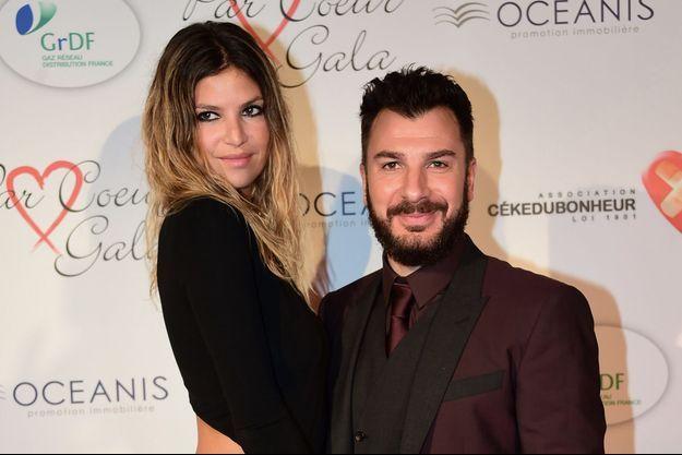 Michaël Youn et Isabelle Funaro, à Paris en 2015