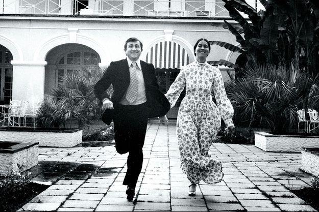 Christine et Michel en 1975, mariés depuis l'année précédente. Un duo des plus créatifs.