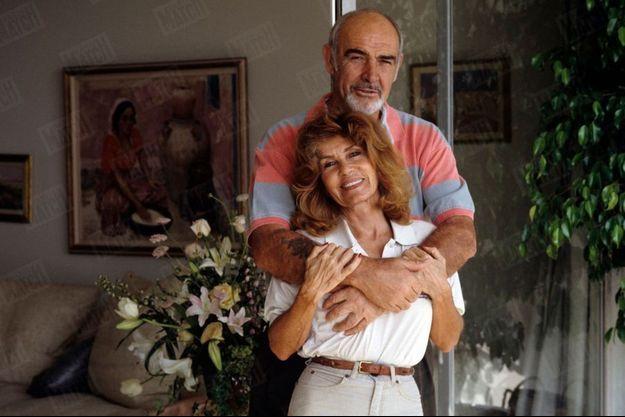 Sean Connery et son épouse Micheline Rochebrune en 1993.