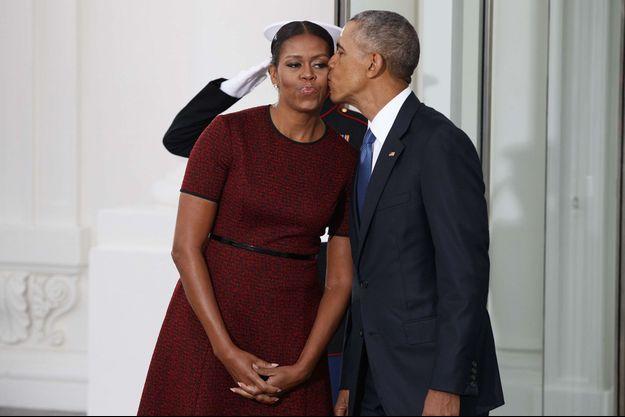 Michelle et Barack Obama en janvier 2017