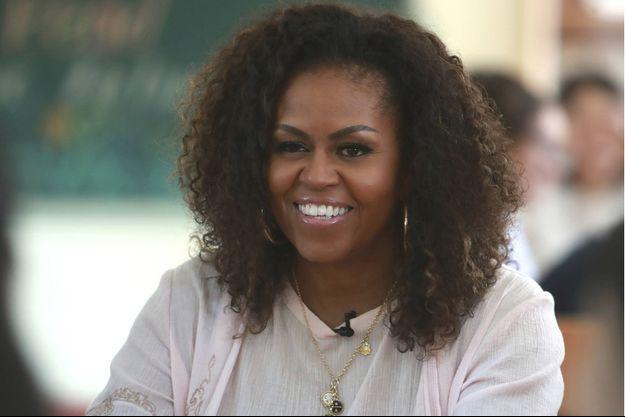 Michelle Obama en visite au Vietnam le 9 décembre 2019, pour promouvoir l'éducation des jeunes filles.