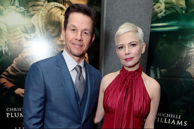 """Mark Wahlberg et Michelle Williams à la première du film """"Tout l'argent du monde"""" en décembre 2017 à Beverly Hills"""