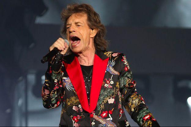 Mick Jagger en concert dans la nouvelle salle U Arena à Paris, le 20 octobre 2017
