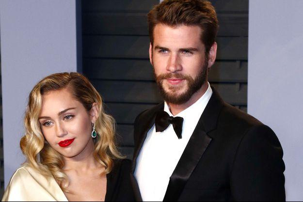 Miley Cyrus et Liam Hemsworth, le 4 mars 2018, à Beverly Hills