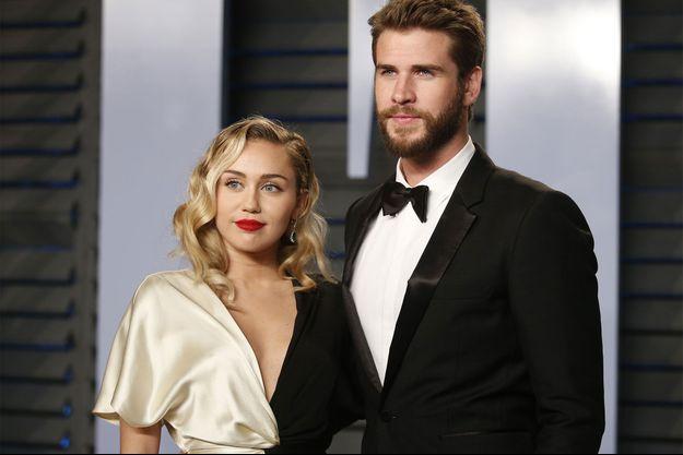 Miley Cyrus et Liam Hemsworth en mars dernier.