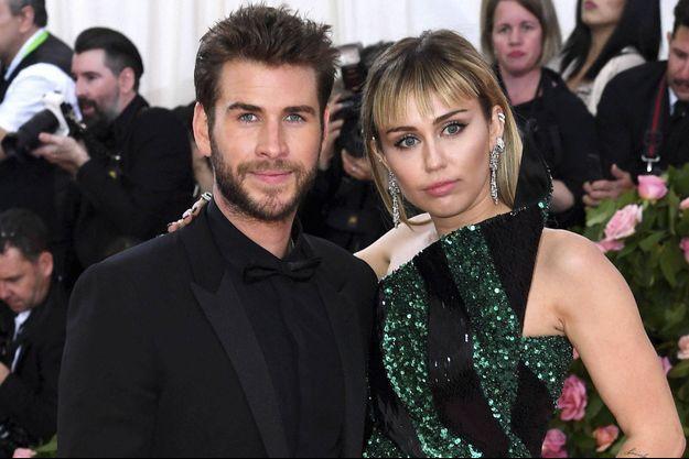 Liam Hemsworth et Miley Cyrus au Met Gala 2019