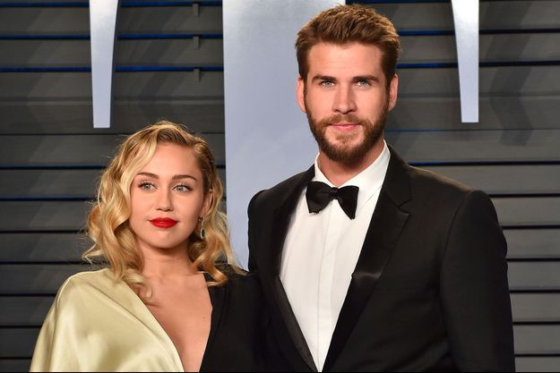 Miley Cyrus et Liam Hemsworth le 4 mars 2018 à la soirée Vanity Fair