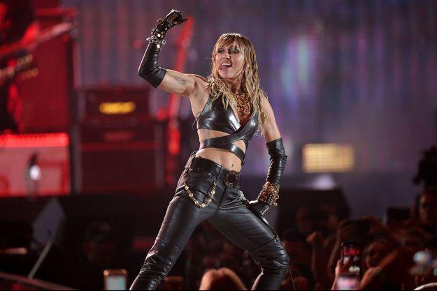 Miley Cyrus en concert à Las Vegas en septembre 2019.