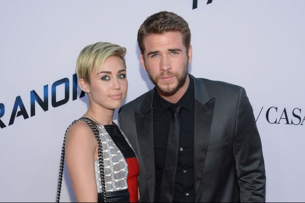 Miley Cyrus et Liam Hemsworth, le 8 août 2013 à Los Angeles.
