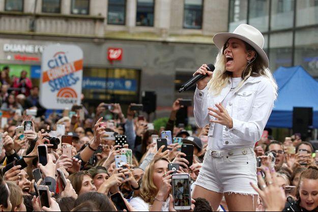 Miley Cyrus en concert à New York en mai 2017.