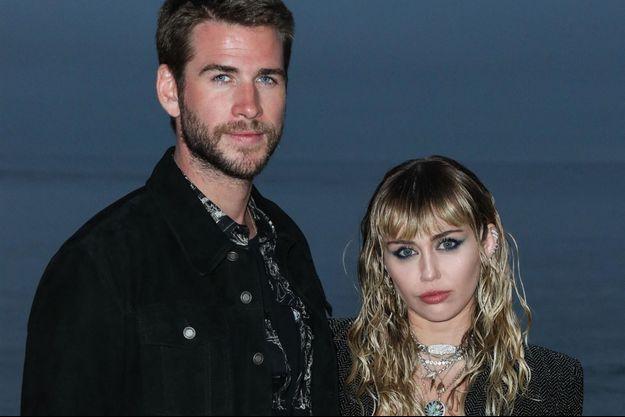 Miley Cyrus et Liam Hemsworth à Malibu en juin 2019.