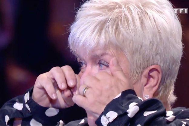 """Mimie Mathy sur le plateau de """"La chanson secrète"""" de TF1 samedi."""