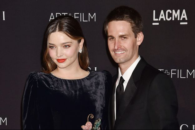 Miranda Kerr et Evan Spiegel à Los Angeles, le 3 novembre 2018