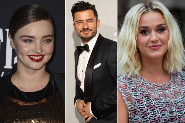 Miranda Kerr, Orlando Bloom et Katy Perry.