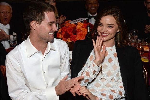Miranda Kerr et Evan Spiegel, un couple heureux.