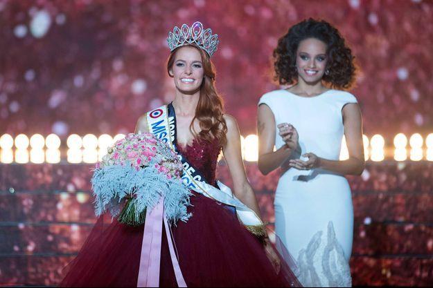 Maëva Coucke (à gauche) et Alicia Aylies, Miss France 2017.