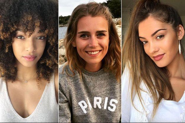 Ophély Mézino (Miss Guadeloupe), Alice Quérette (Miss Ile-De-France), Carla Bonesso (Miss Aquitaine)