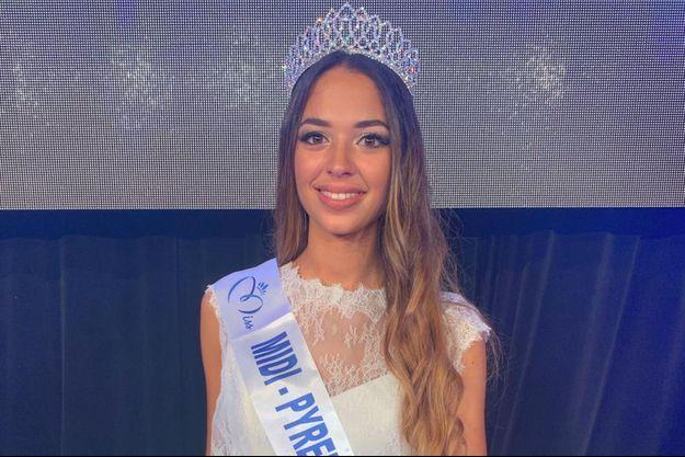 Emma Arrebot-Natou, Miss Midi-Pyrénées, a été élue à Mazamet le 11 septembre 2020
